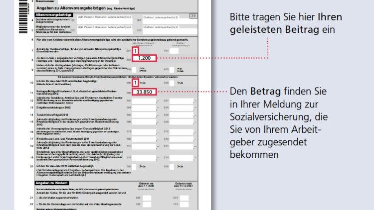 Pensionskasse Steuererklärung Wo Eintragen